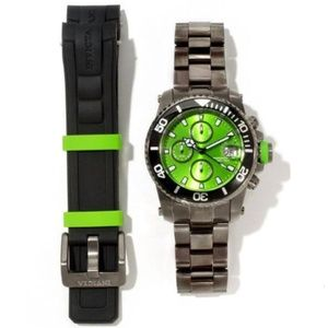 Invicta Pro Diver Chronograph Green Dial Watch Set